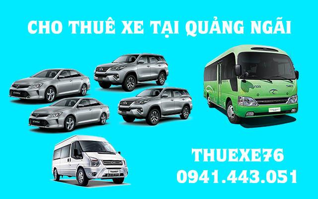 Cho thuê xe tại Quảng Ngãi