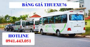 Bảng giá thuê xe Quảng Ngãi