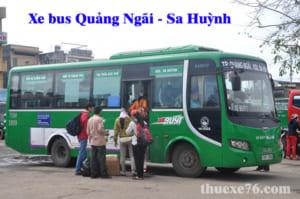 Tuyến xe bus Quảng Ngãi đi Sa Huỳnh