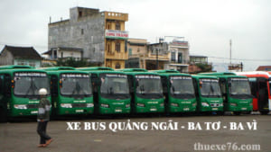 Xe bus Quảng Ngãi đi Ba Tơ, Ba Vì