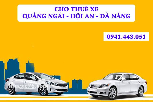 Cho thuê xe theo lịch trình Quảng Ngãi - Hội An - Đà Nẵng