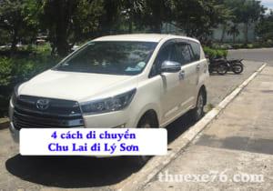 4 cách di chuyển Chu Lai đi Lý Sơn