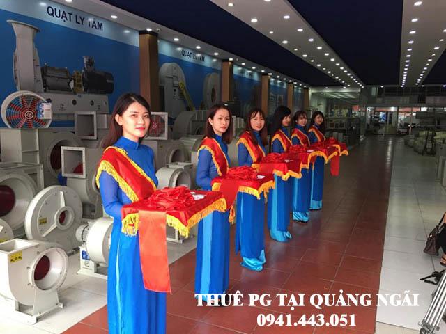 Thuê PG cắt băng khánh thành tại Quảng Ngãi