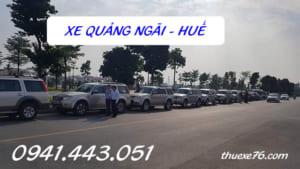 Xe Quảng Ngãi đi Huế