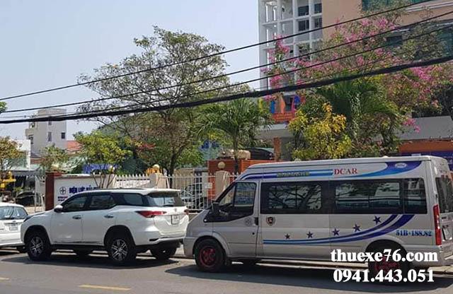 Thuê xe 16 chỗ tại sân bay Chu Lai đi Đà Nẵng