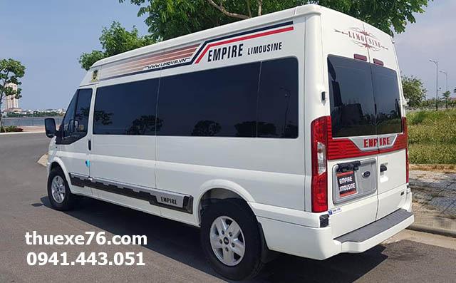 Thuê xe 9 chỗ Limousine tại Quảng Ngãi