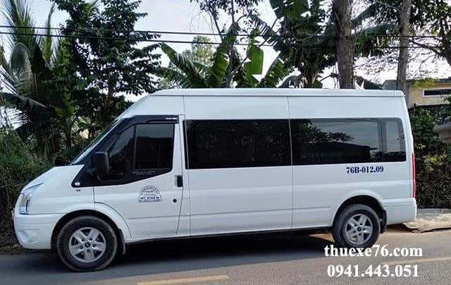 Thuê xe 16 chỗ Chu Lai đi Dung Quất
