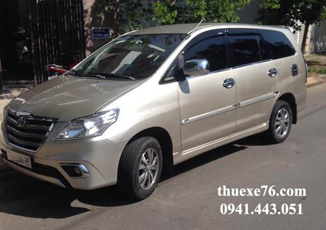Thuê xe 7 chỗ tự lái Innova tại Quảng Ngãi