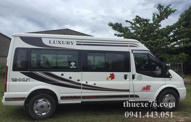 Cách chọn dịch vụ thuê xe 16 chỗ tại Quảng Ngãi