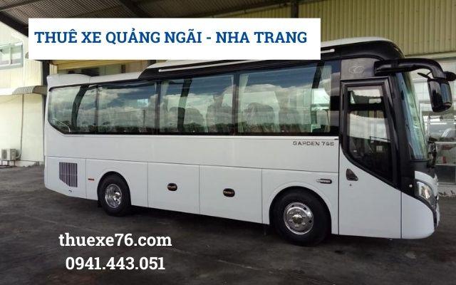 Thuê xe Quảng Ngãi đi Nha Trang