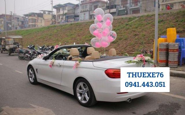 Trang trí xe đám cưới tại Quảng Ngãi