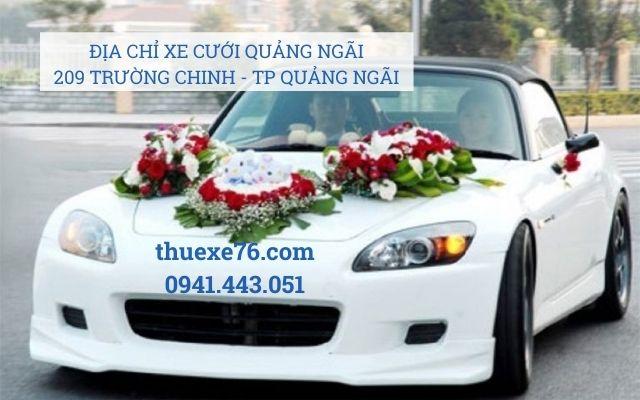 Địa chỉ thuê xe cưới tại Quảng Ngãi