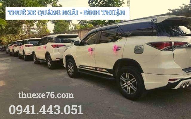 Thuê xe Quảng Ngãi đi Bình Thuận