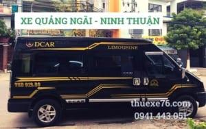 Thuê xe Quảng Ngãi đi Ninh Thuận