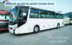 Thuê xe 45 chỗ Thaco Bluesky tại Quảng Ngãi
